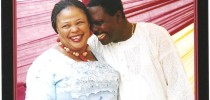 The late Mrs Olayinka Aduwo and her husband Olufemi Aduwo at her birthday party in 2010