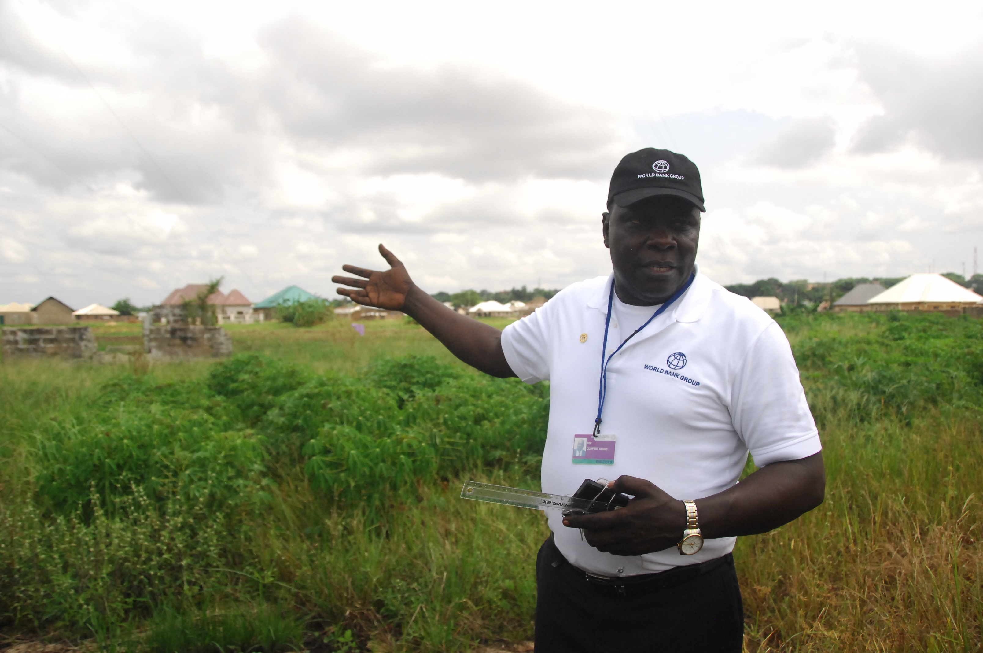 Olufemi Aduwo at the gas flaring site.