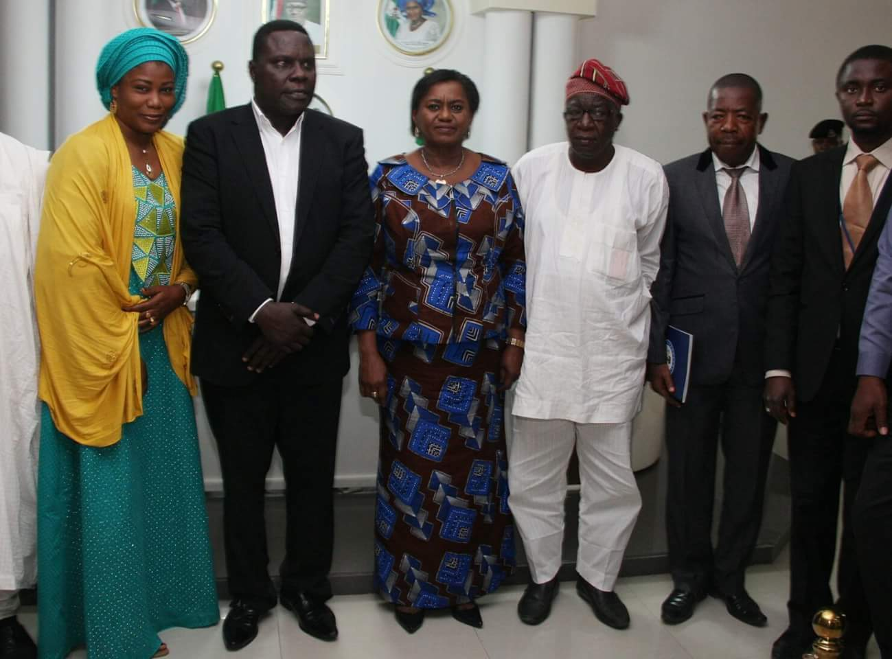 Olufemi Aduwo with the Akwa lbom state  Governor State.