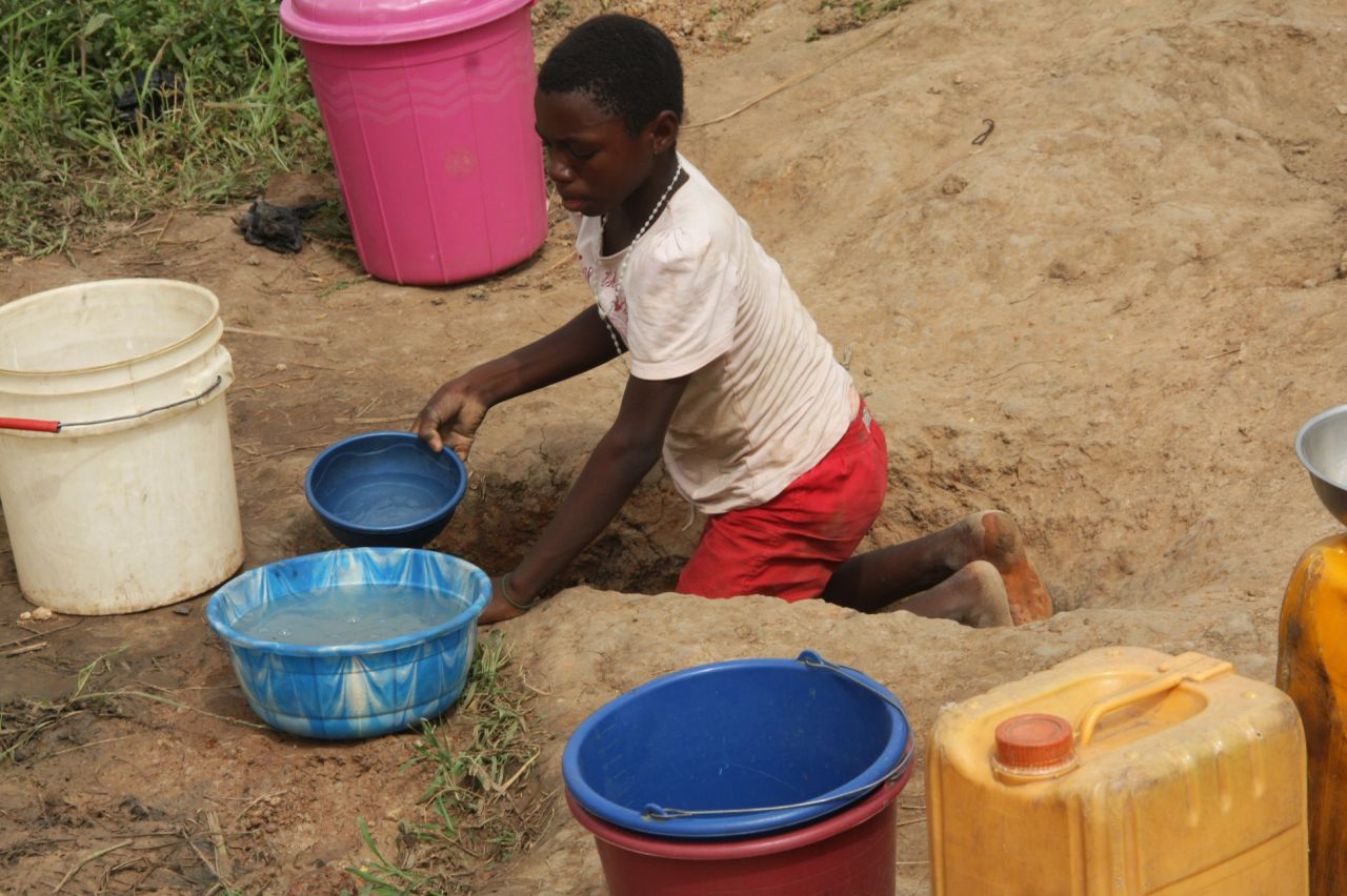source of drinking water for a community in Benue State.